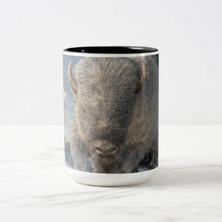 White Bison Two-Tone Coffee Mug