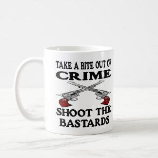 White Bite Out Crime Bastards Coffee Mug