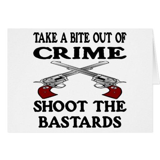 White Bite Out Crime Bastards Greeting Card