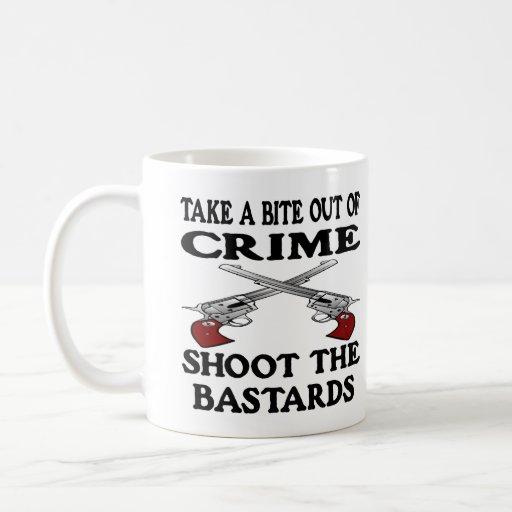 White Bite Out Crime Bastards Classic White Coffee Mug