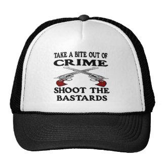 White Bite Out Crime Bastards Trucker Hat