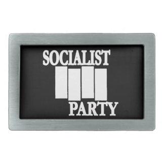 White & Black 4 Bars Socist Party Belt Buckle