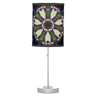 White Black  abstract colorburst accent table lamp