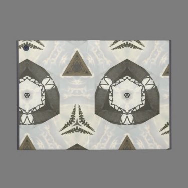 White black abstract pattern iPad mini cases