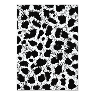 WHITE BLACK ADD YOUR OWN COLOR ANIMAL PRINT PATTER CARD