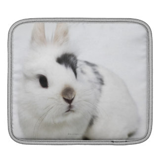 White, black and brown rabbit sleeves for iPads