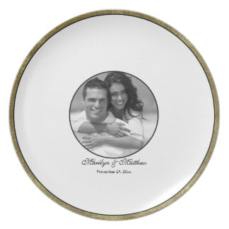 White, Black, and Gold Guest Signing Plate