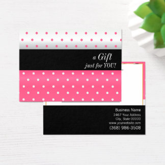 White, Black and Pink Design Gift Certificate