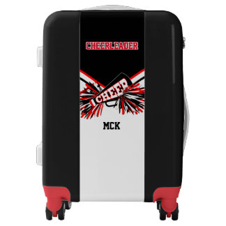 White, Black and Red Cheerleader Outfit Style Luggage