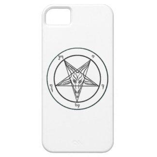 White/Black Baphomet Phone Case iPhone 5 Cases