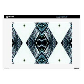 White Black Blue Modern Clean Pattern Decals For Laptops