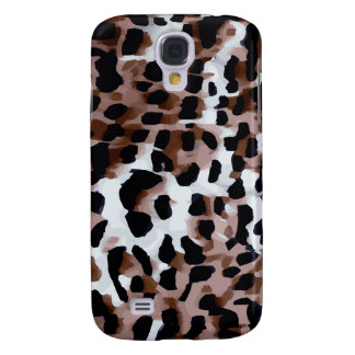White Black Brown Cheetah Abstract Galaxy S4 Case