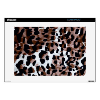 White Black Brown Cheetah Abstract Laptop Decal