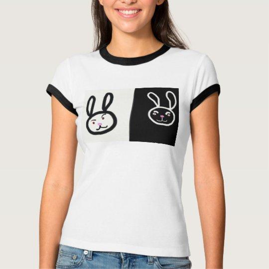White Black bunnies T-Shirt