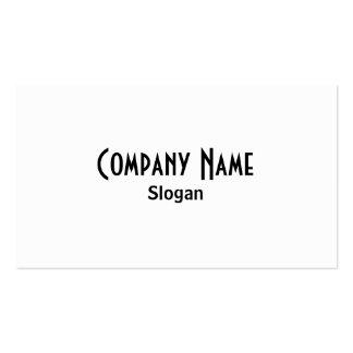 White & Black Business Card