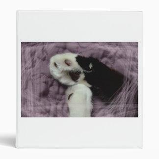 white black cat paws purple back grunge 3 ring binders