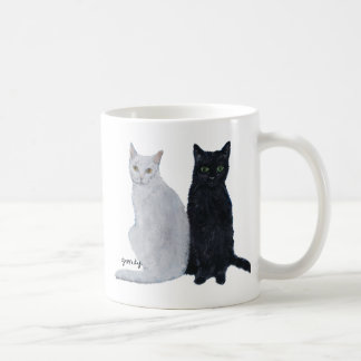 White & Black Cats Coffee Mug
