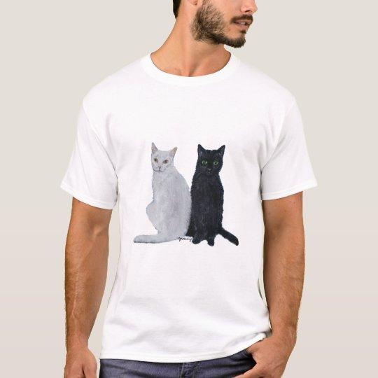 White & Black Cats T-Shirt