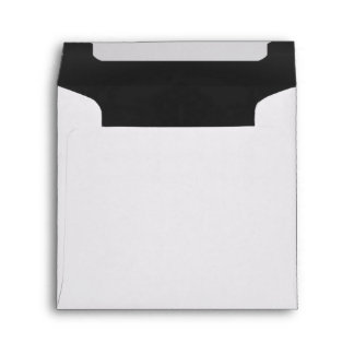 White & Black ChalkBoard Lined Wedding Envelope