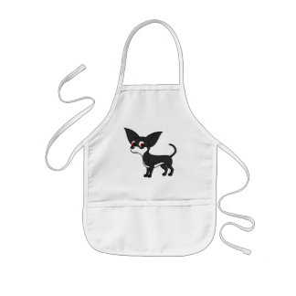 White & Black Chihuahua with Short Hair Kids' Apron