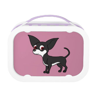 White & Black Chihuahua with Short Hair Lunch Box