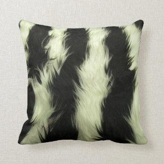 Black Fur Throw Pillows : White Fur Pillows - Decorative & Throw Pillows Zazzle