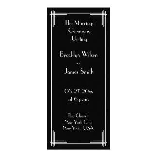 White Black Great Gatsby Art Deco Wedding Programs