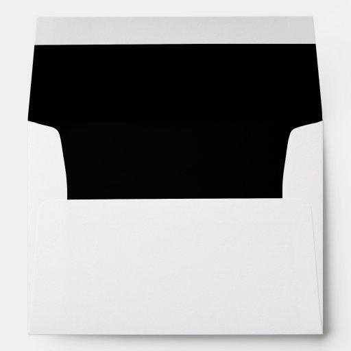 White Black Invitation Envelope