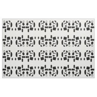 White/Black Mix Fabric