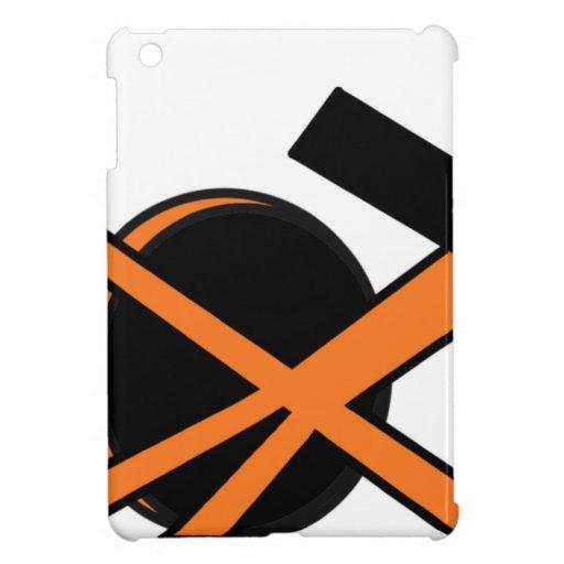White Black Orange Portal Right iPad Mini Cover