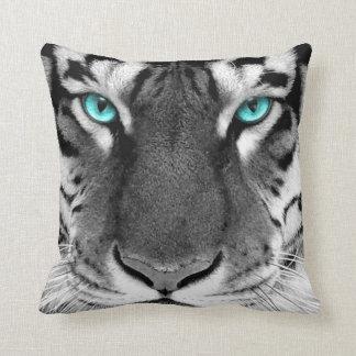 White Black Pattern Pillow
