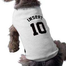 White & Black Pets | Sports Jersey Design T-shirt at Zazzle
