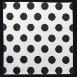 "White Black Polka Dots - Set of 4 Cloth Napkins<br><div class=""desc"">Graphic design of black polka dots on a white background. You can change the white background color if you want.</div>"