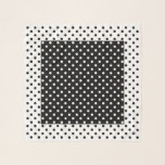 "White Black Polka Dots Square Chiffon Scarf<br><div class=""desc"">White Black Polka Dots Square Chiffon Scarf in Black and White.  Optional name curved around dot in corner.  Design by Claudine Boerner.</div>"