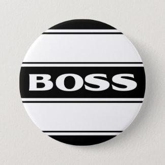 White Black Race Stripe Muscle Car Boss Button