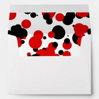 White black red envelope