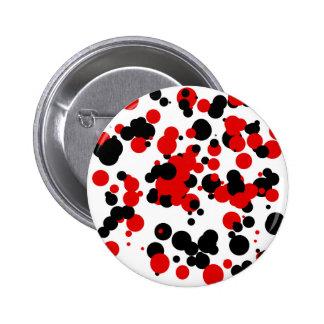 White black red pinback button
