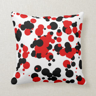 White black red throw pillow