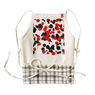 White black red zazzle HEART apron
