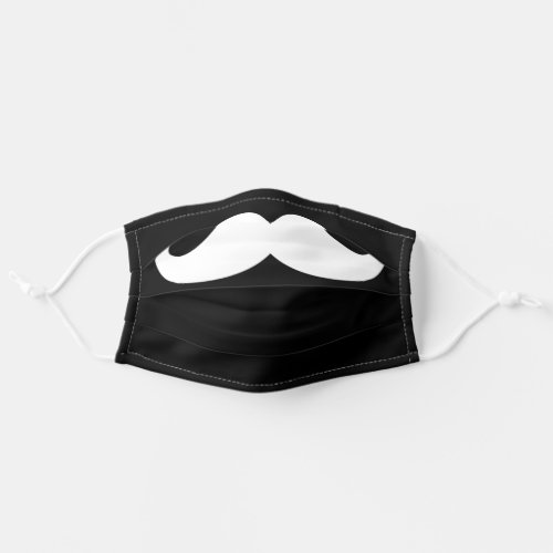 White Black Simple Funny Mustache Safety Cloth Face Mask