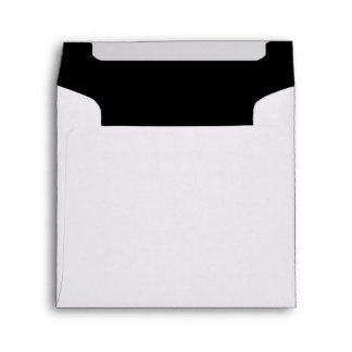 White Black Square Invitation Envelope