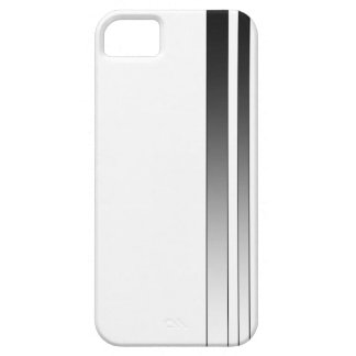 White & Black Stripe iPhone 5 Case