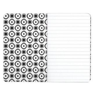 White Black stylish polka dots white background Journal