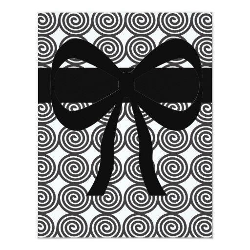 White & Black- Swirls Card