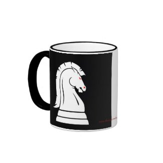 White & Black Wild Knights Chess Piece Mug
