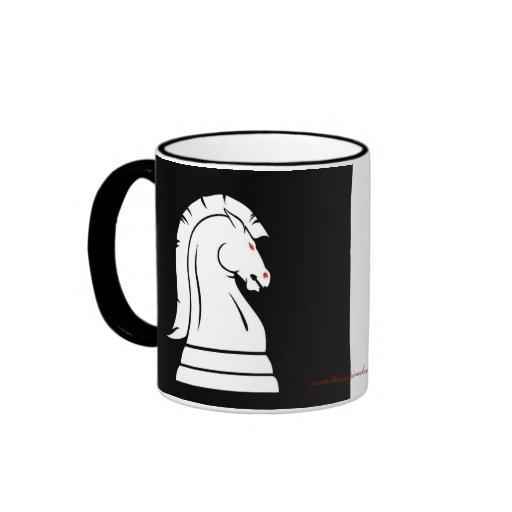 White & Black Wild Knights Chess Piece Mug