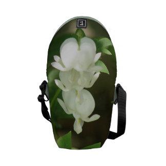 White Bleeding Heart Messenger Bag