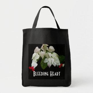 White Bleeding Hearts Bags