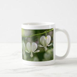 White Bleeding Hearts Flowers Coffee Mug