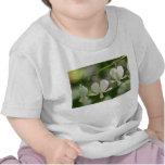 White Bleeding Hearts Flowers T-shirts